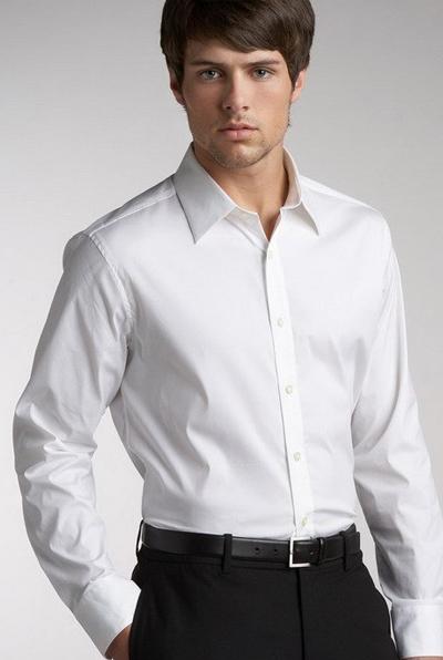 服装部位名称图解 男衬衫